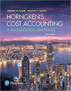 solution manual for Horngren's Cost Accounting: A Managerial Emphasis 16th Edition