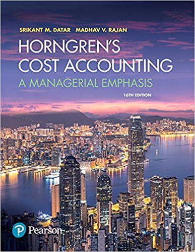 solution manual for Horngren's Cost Accounting: A Managerial Emphasis 16th Edition的图片 1