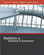 solution manual for Statistics for Business and Economics 13th Edition