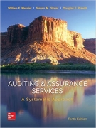solution manual for Auditing & Assurance Services: A Systematic Approach 10th Edition