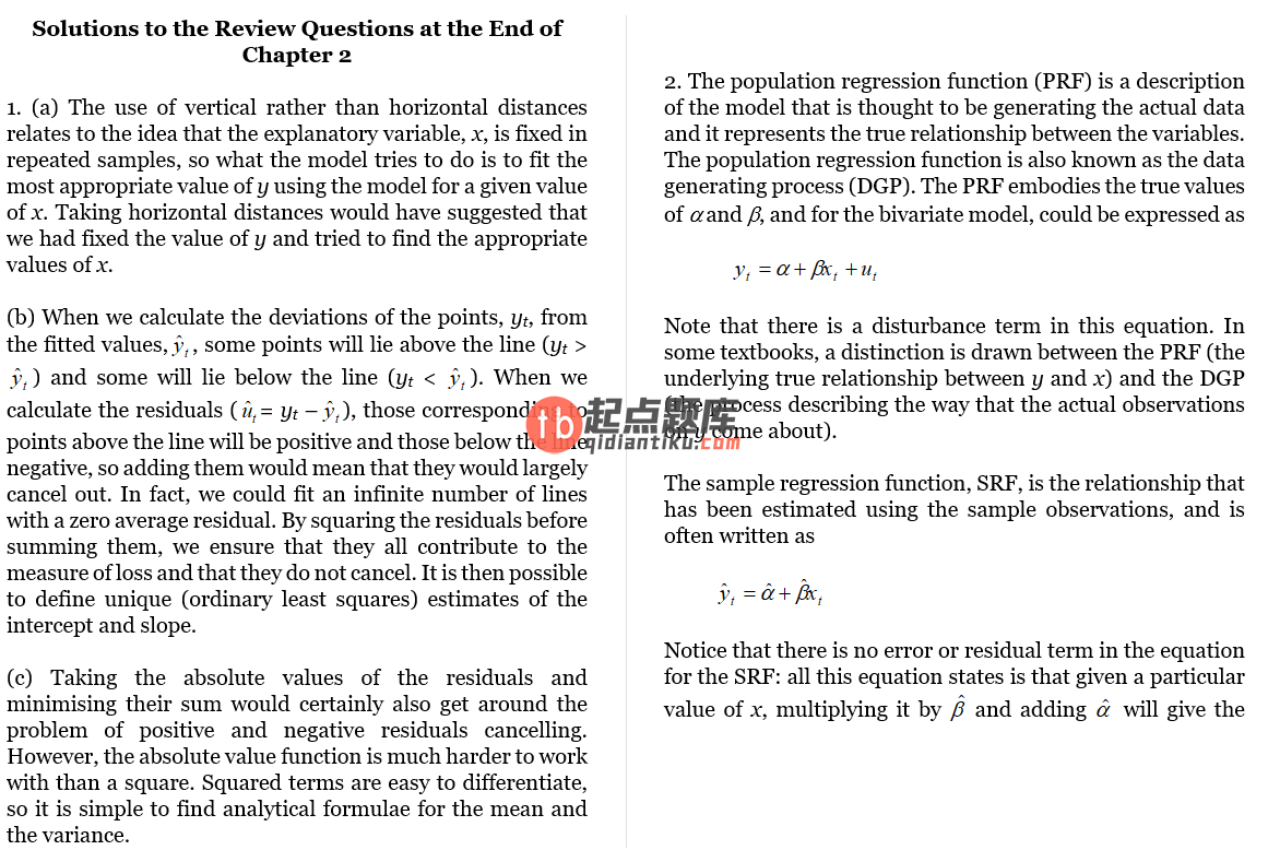 solution manual for Introductory Econometrics for Finance 2nd Edition的图片 3