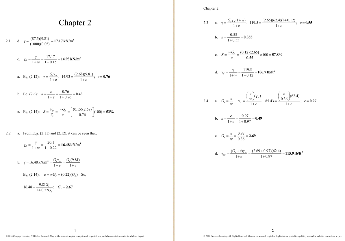 solution manual for Principles of Foundation Engineering 8th Edition的图片 3