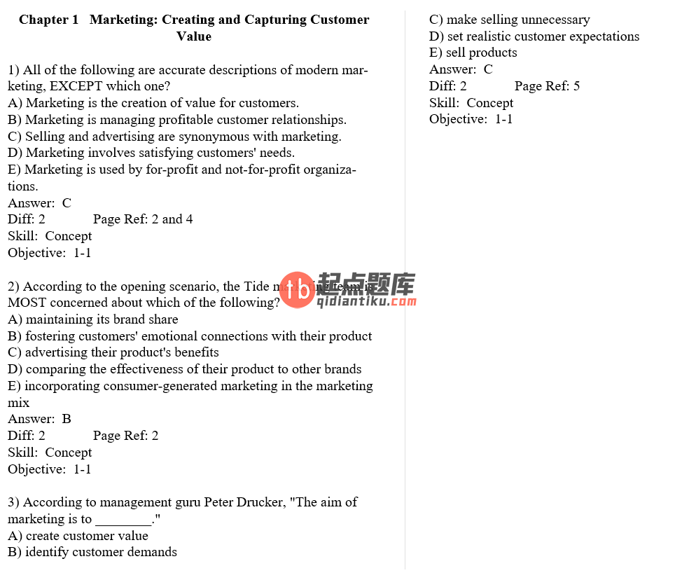 test bank for Principles of Marketing 13th Edition的图片 3