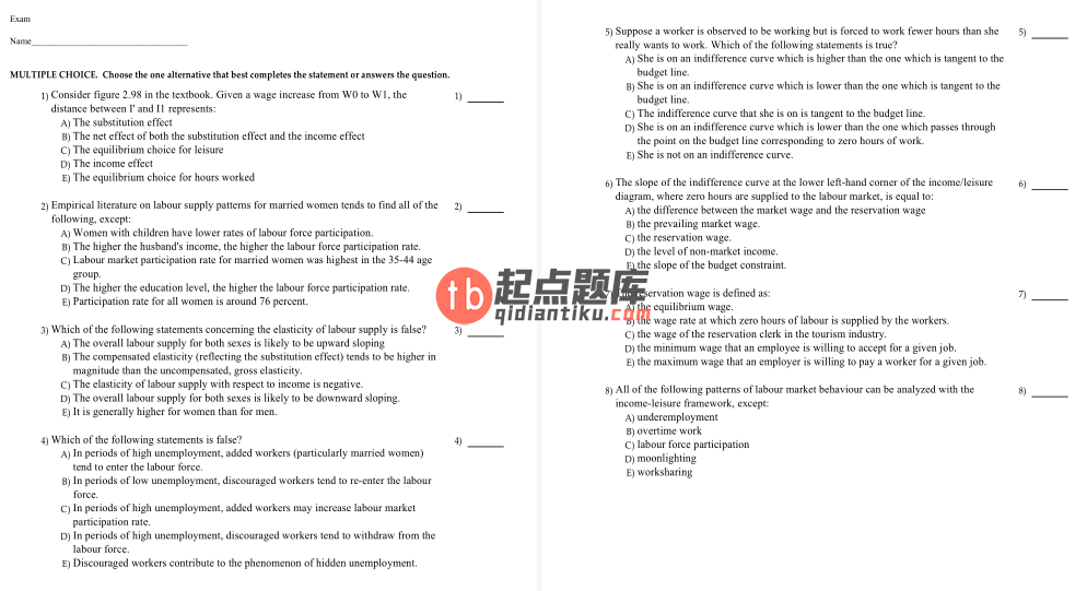 test bank for Labour Market Economics 8th Canadian Edition的图片 3