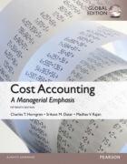 solution manual for Cost Accounting: A Managerial Emphasis 15th Global Edition