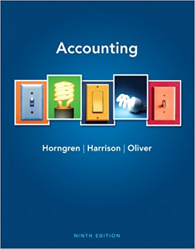 test bank for Accounting 9th Edition by Charles T. Horngren的图片 1