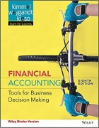 solution manual for Financial Accounting Tools for Business Decision Making 8th Edition