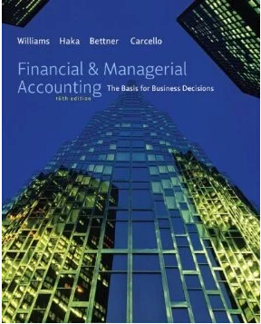 test bank for Financial and Managerial Accounting 16th Edition的图片 1