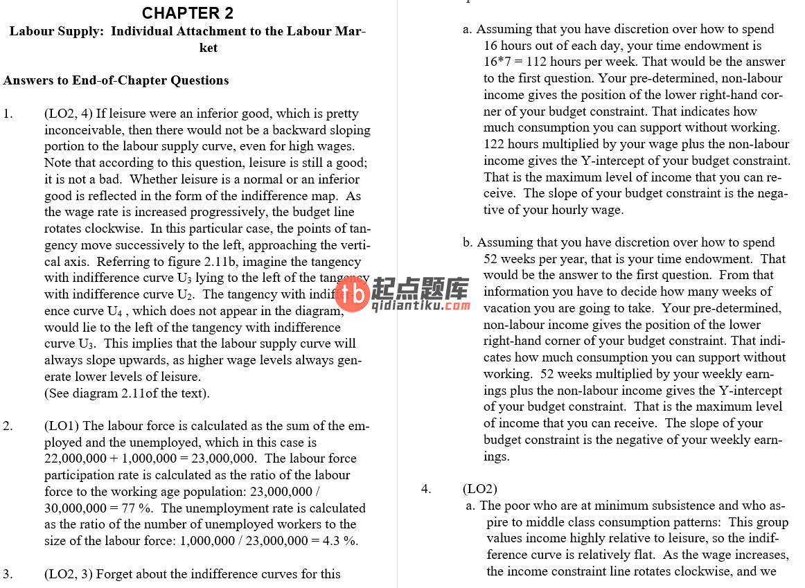 solution manual for Labour Market Economics 8th Canadian Edition的图片 3