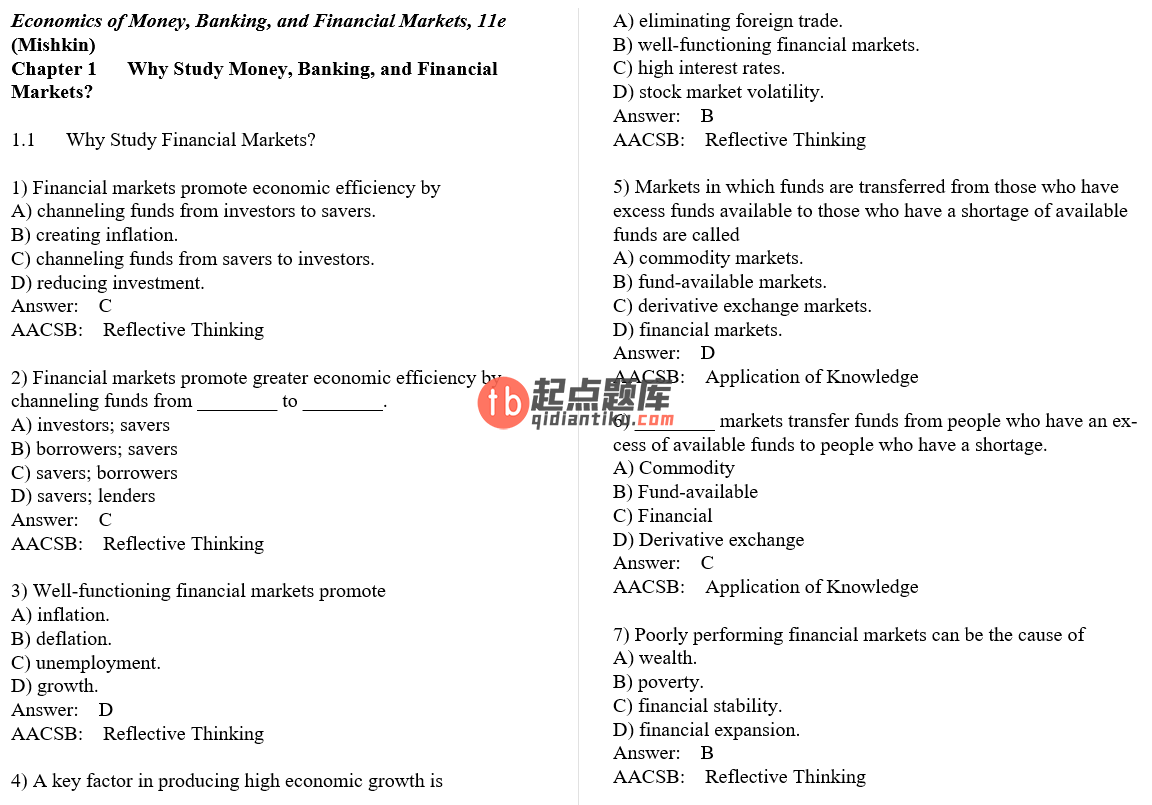 test bank for The Economics of Money Banking and Financial Markets 11th Global Edition的图片 3