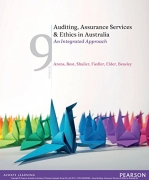solution manual for Auditing, Assurance Services and Ethics in Australia 9th Edition