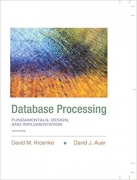 test bank for Database Processing: Fundamentals, Design, and Implementation 14th Edition