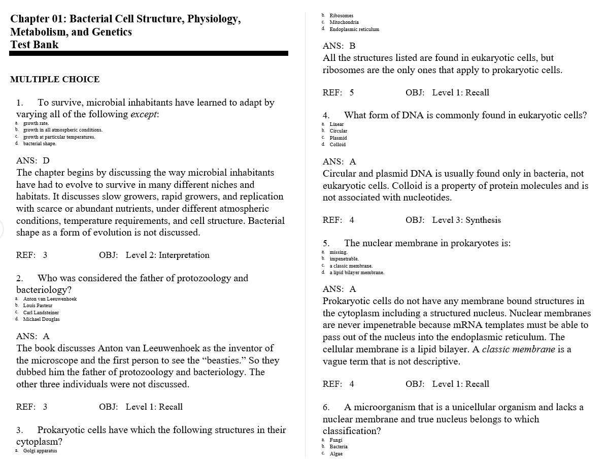 test bank for Textbook of Diagnostic Microbiology 5th Edition的图片 3