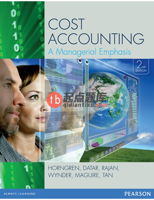 test bank for Cost Accounting: A Managerial Emphasis 2nd Edition的图片 1