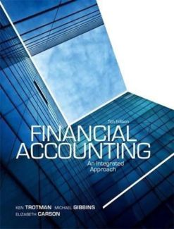 solution manual for Financial accounting: an integrated approach 5th edition的图片 1
