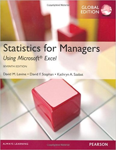 solution manual for Statistics for Managers Using MS Excel 7th Global edition的图片 1