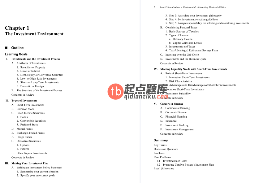 solution manual for Fundamentals of Investing 13th Edition的图片 3