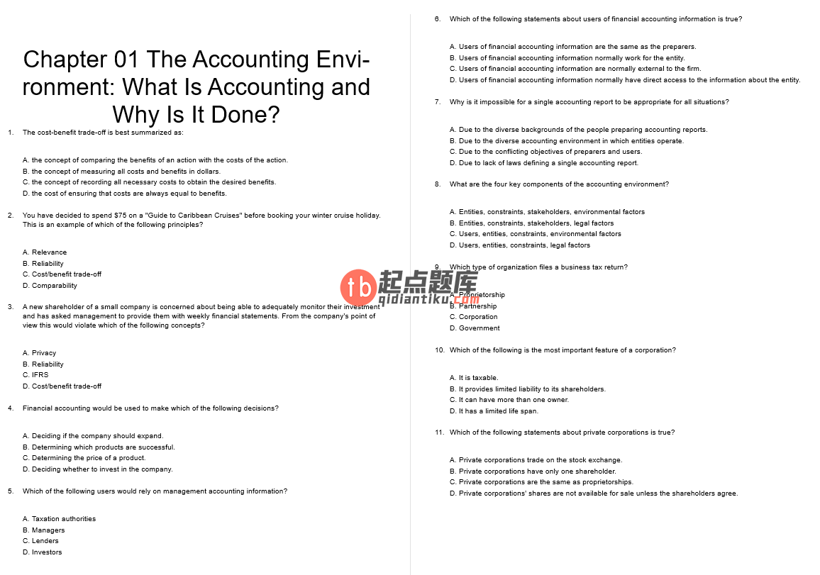 test bank for Financial Accounting: A Critical Approach 4th Canadian Edition的图片 3