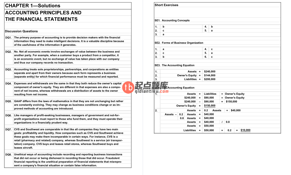 solution manual for Principles of Financial Accounting 12th Edition的图片 4