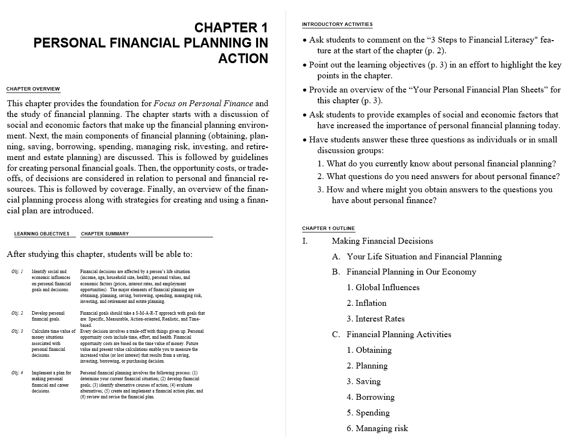solution manual for Focus on Personal Finance 5th Edition的图片 3