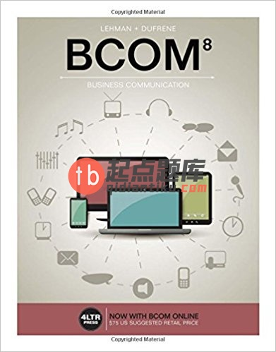 test bank for BCOM 8th Edition的图片 1
