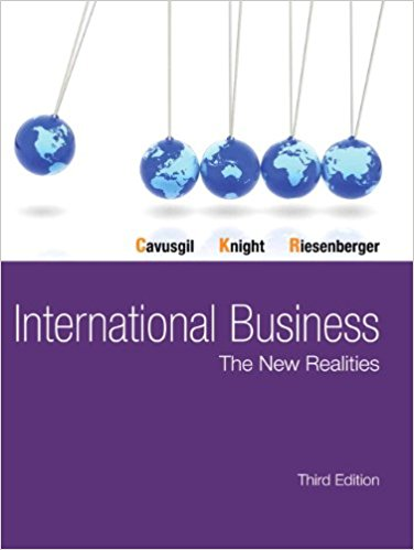 solution manual for International Business: The New Realities 3rd Edition的图片 1
