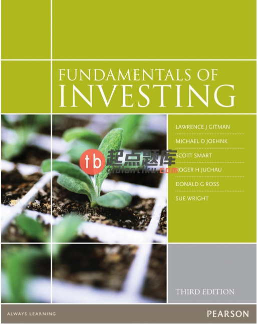 solution manual for Fundamentals of Investing 3rd Australian Edition的图片 1