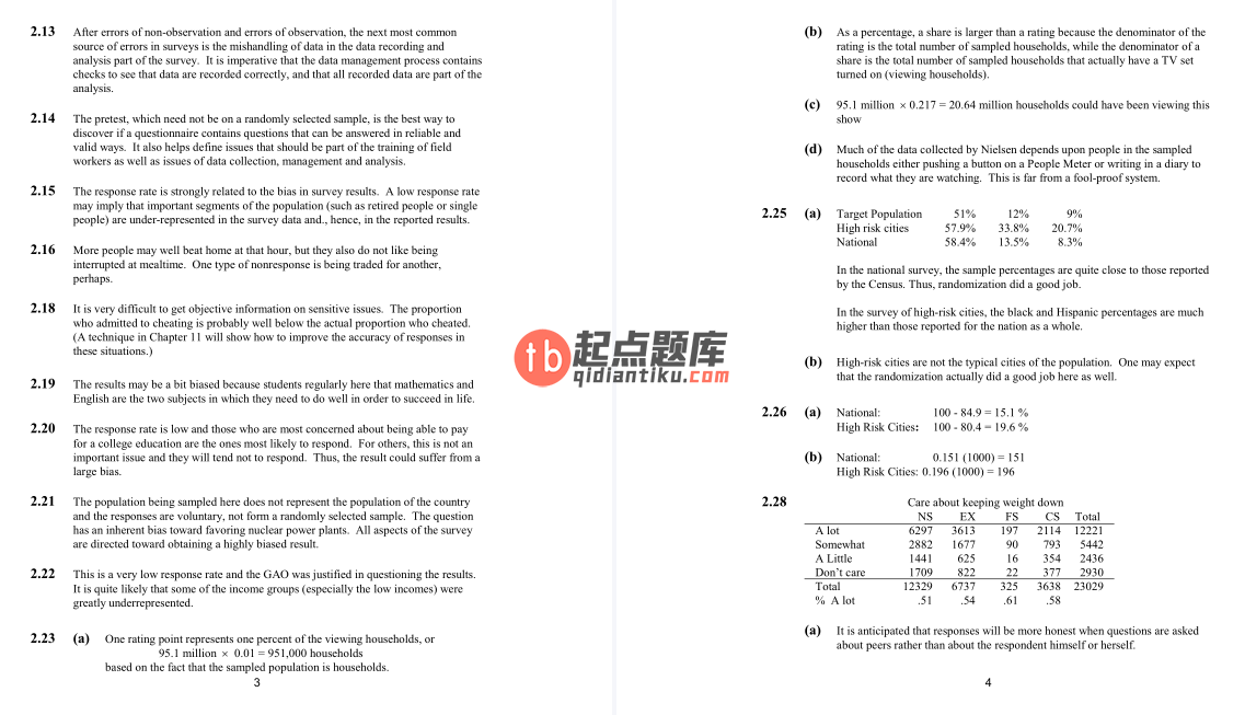 solution manual for Elementary Survey Sampling 7th edition的图片 3