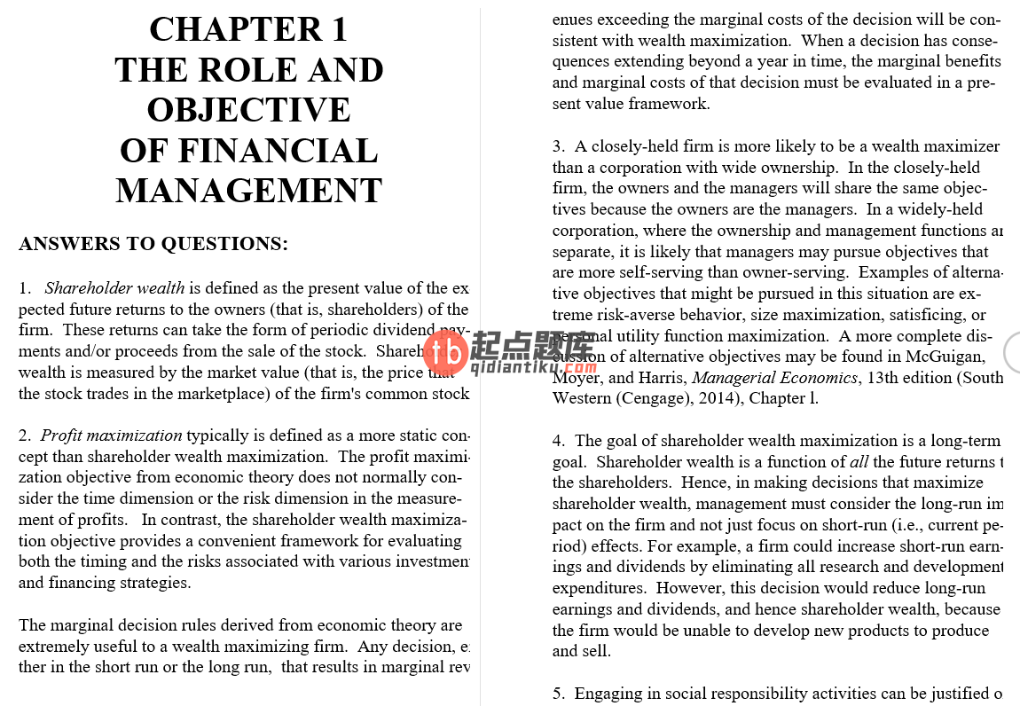 solution manual for Contemporary Financial Management 13th Edition的图片 3