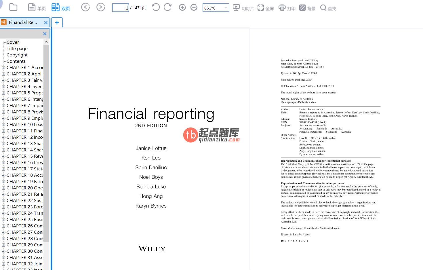 Financial Reporting 2nd Edition by Janice Loftus的图片 2