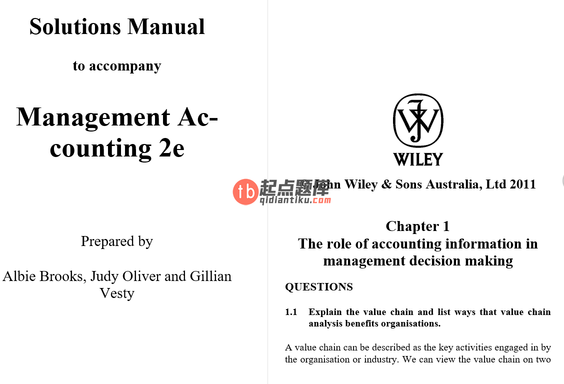 solution manual for Management Accounting 2nd Edition by Leslie G. Eldenburg的图片 3
