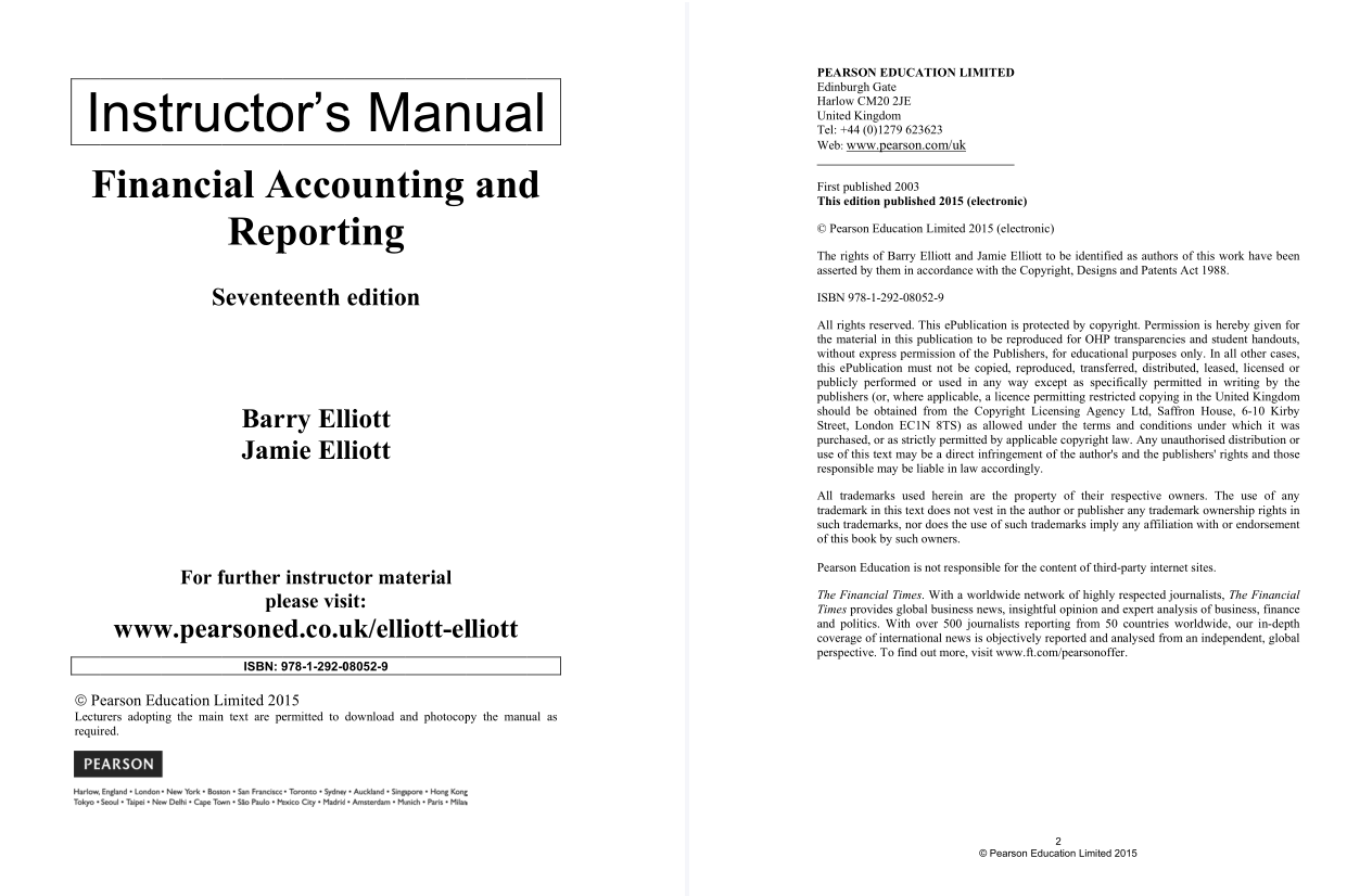 solution manual for Financial Accounting and Reporting 17th Edition的图片 2