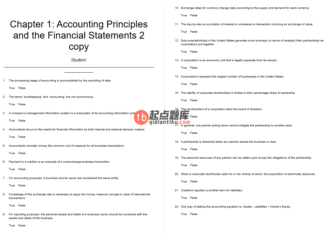 test bank for Principles of Financial Accounting 12th Edition的图片 3