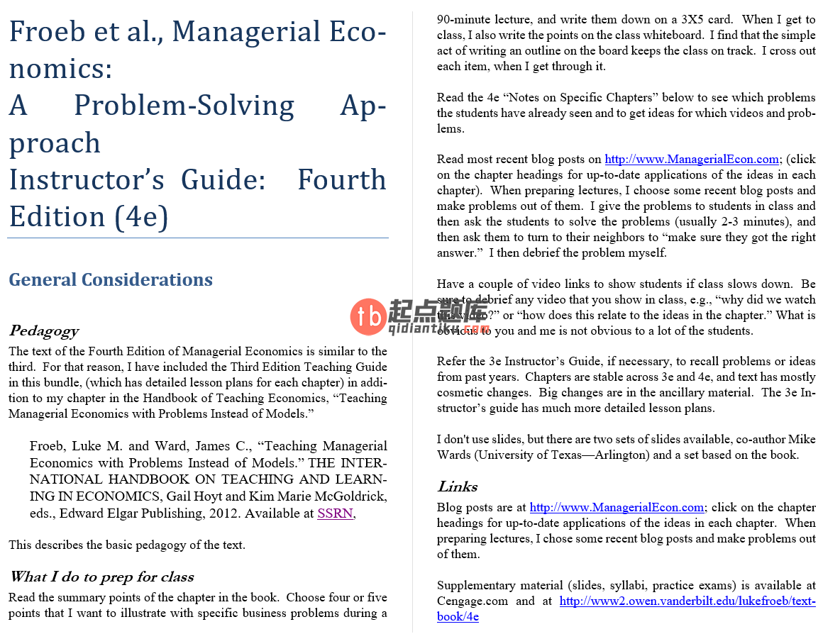 solution manual for Managerial Economics 4th Edition的图片 2