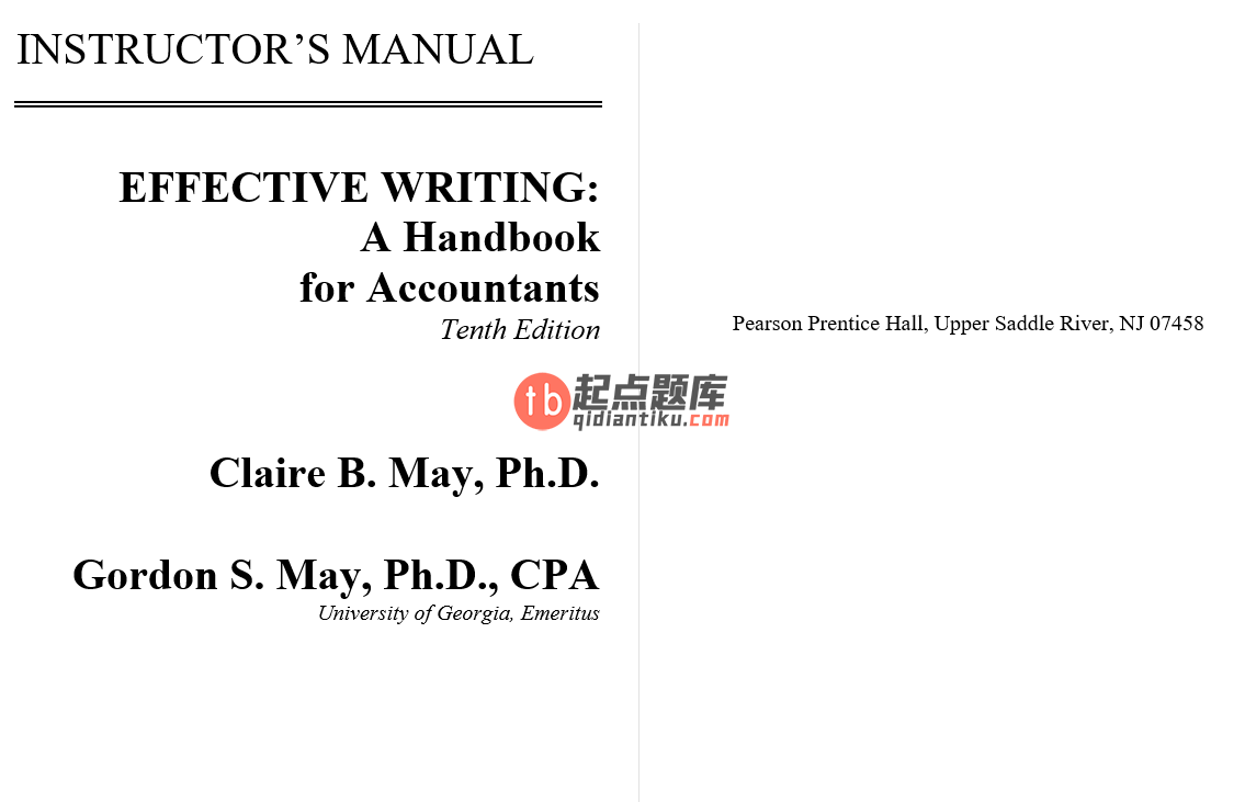solution manual for Effective Writing A Handbook for Accountants 10th Edition的图片 2