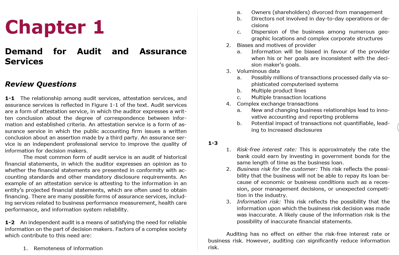 solution manual for for Auditing, Assurance Services and Ethics in Australia 9th Edition的图片 3