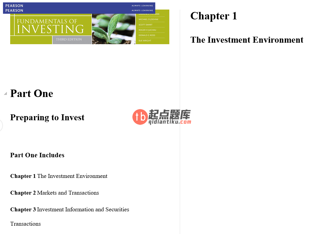 solution manual for Fundamentals of Investing 3rd Australian Edition的图片 3
