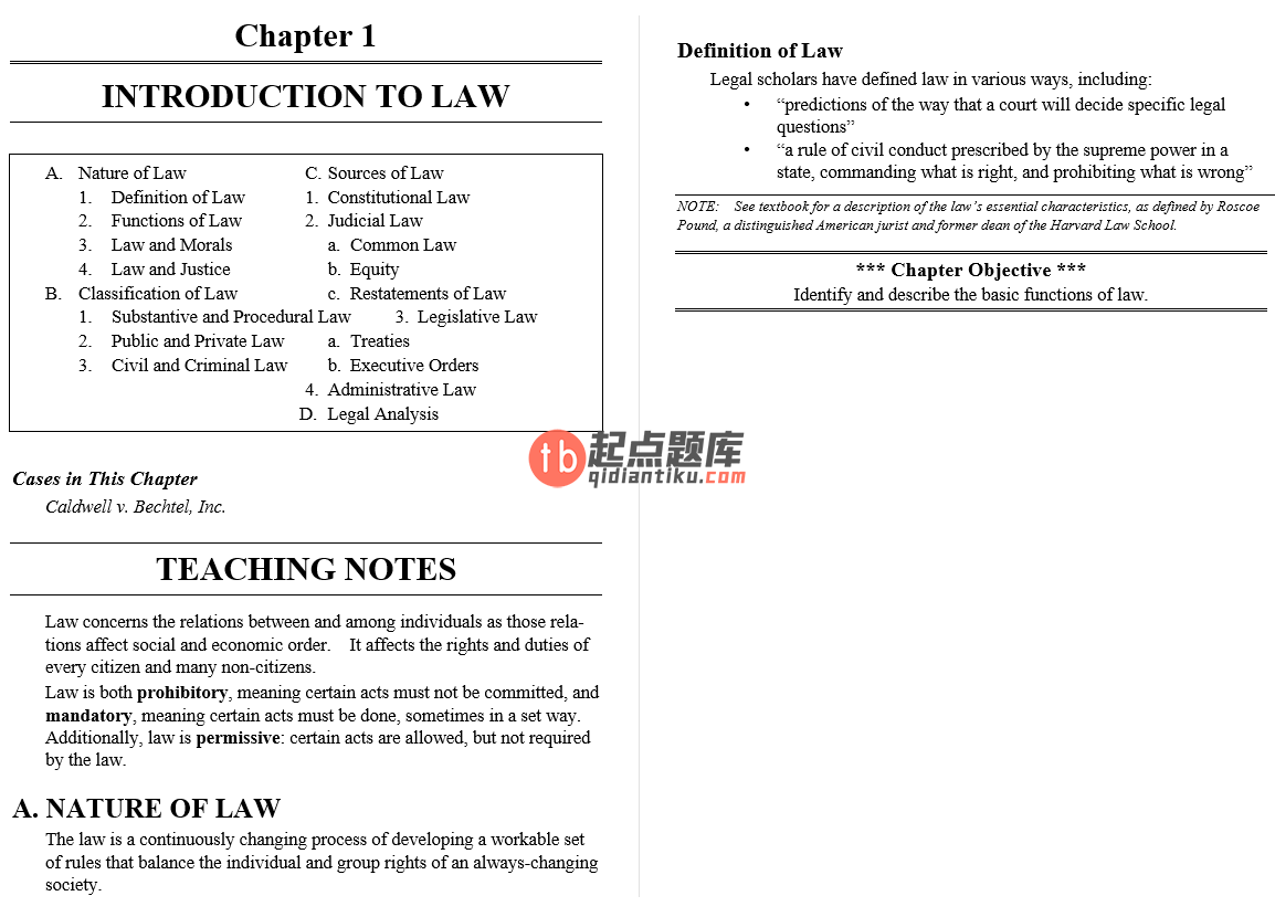 solution manual for Business Law and the Regulation of Business 11th Edition的图片 3