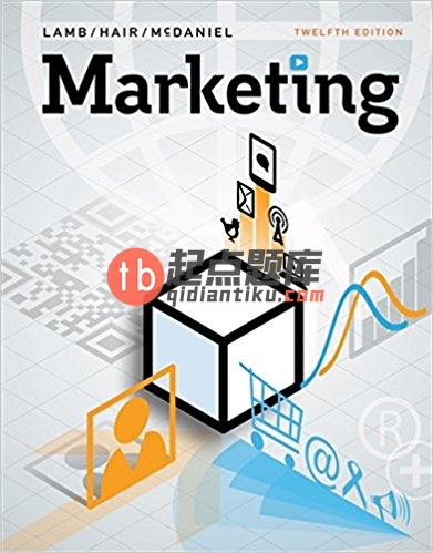 test bank for Marketing 12th Edition by Charles W. Lamb的图片 1
