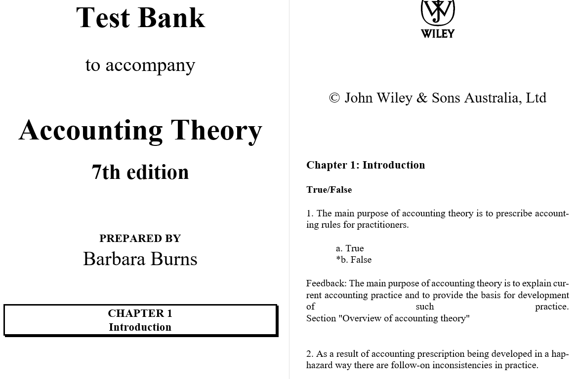 test bank for Accounting Theory 7th Edition by Jayne Godfrey的图片 3