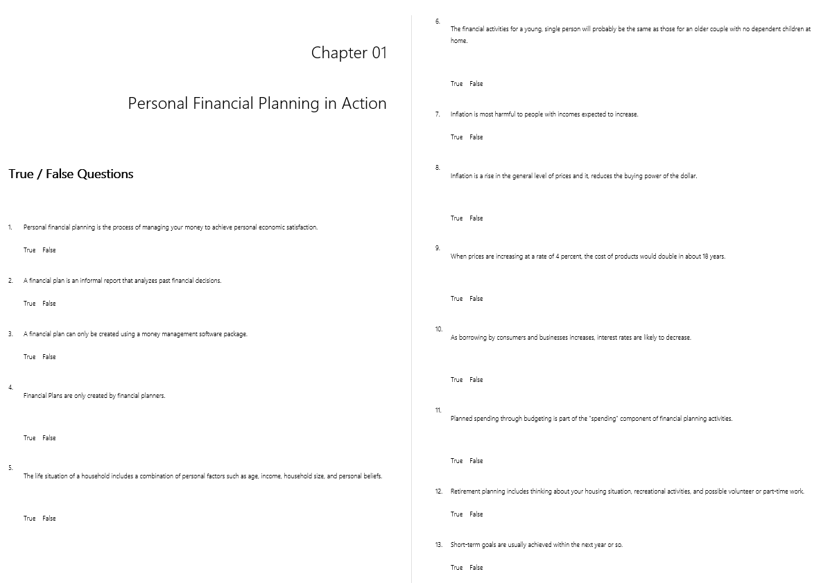 test bank for Focus on Personal Finance 5th Edition的图片 3