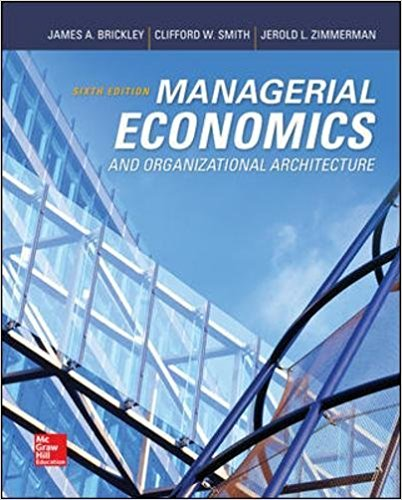 solution manual for Managerial Economics and Organizational Architecture 6th Edition的图片 1