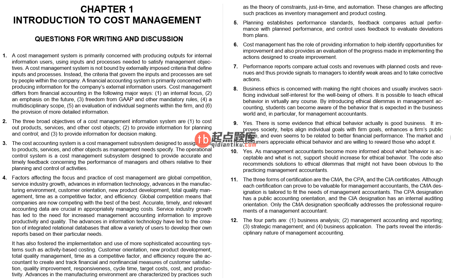 solution manual for Cost Management: Accounting and Control 6th edition的图片 4