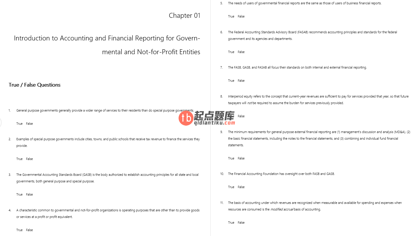 test bank for Accounting for Governmental and Nonprofit Entities 16th Edition的图片 3