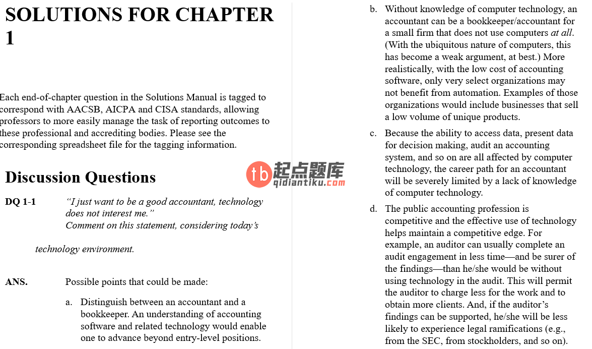 solution manual for Accounting Information Systems 10th Edition的图片 4