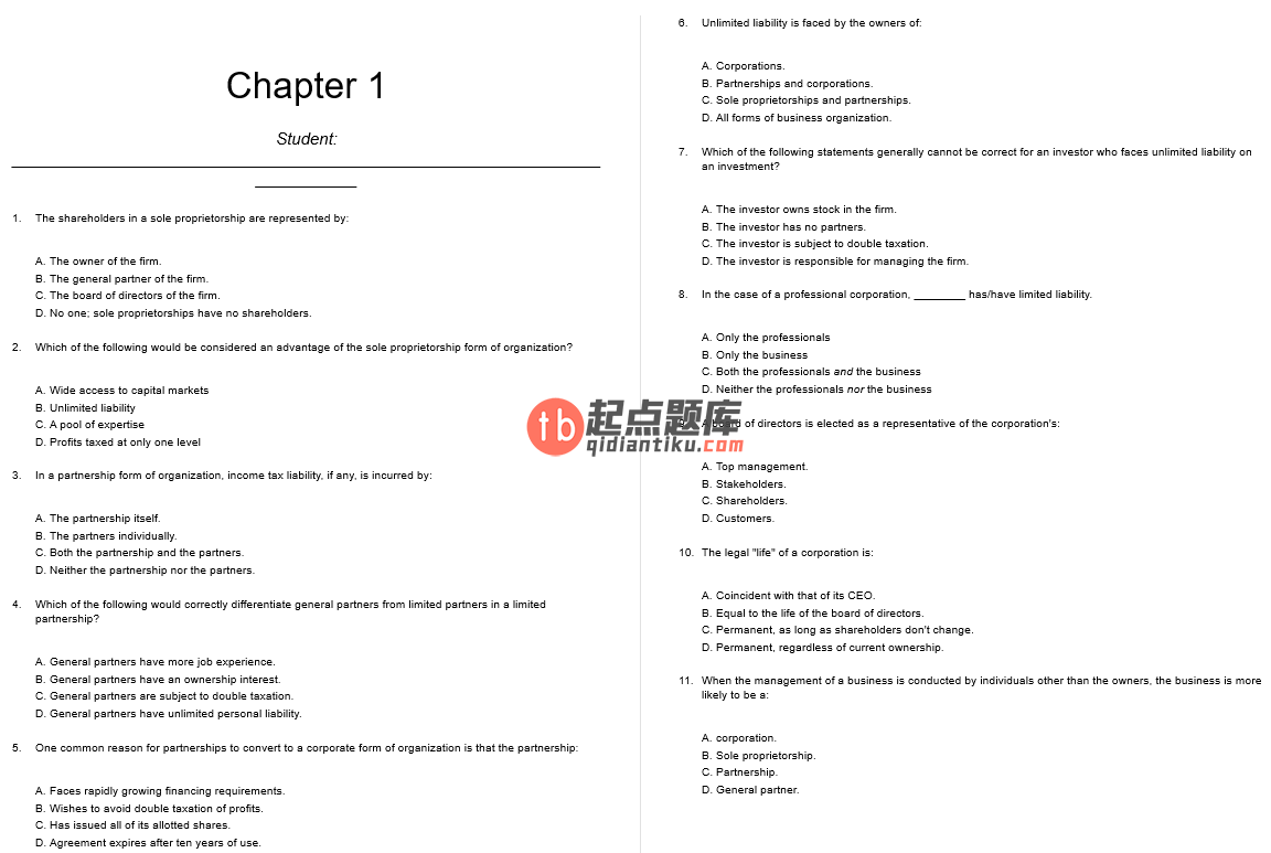 test bank for Fundamentals of Corporate Finance 5th Canadian edition的图片 3