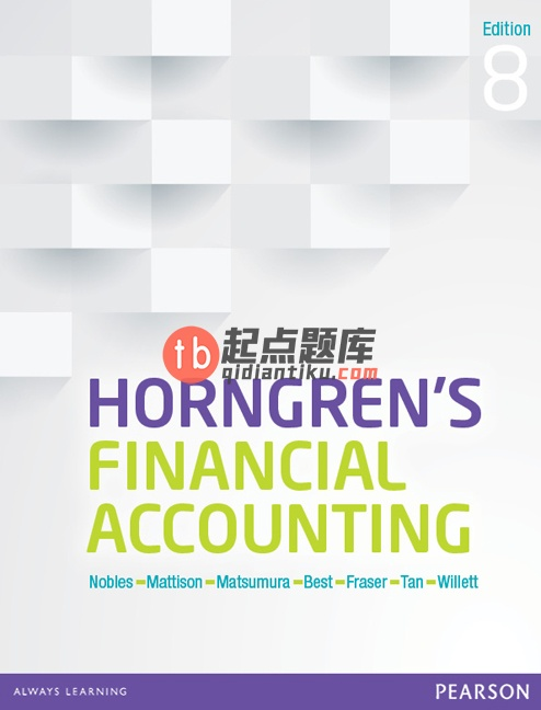 solution manual for Horngren's Financial Accounting 8th Edition的图片 1