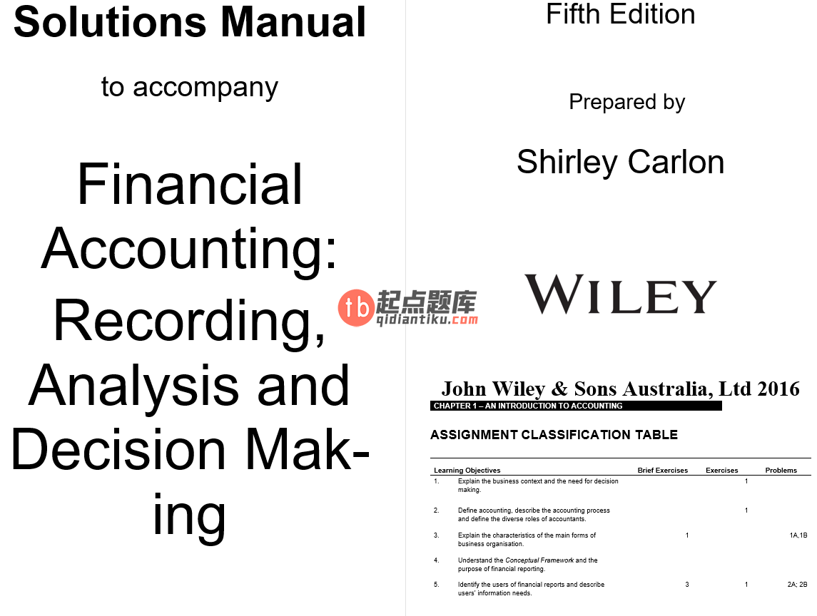 solution manual for Financial Accounting: Reporting, Analysis and Decision Making 5th Edition的图片 3