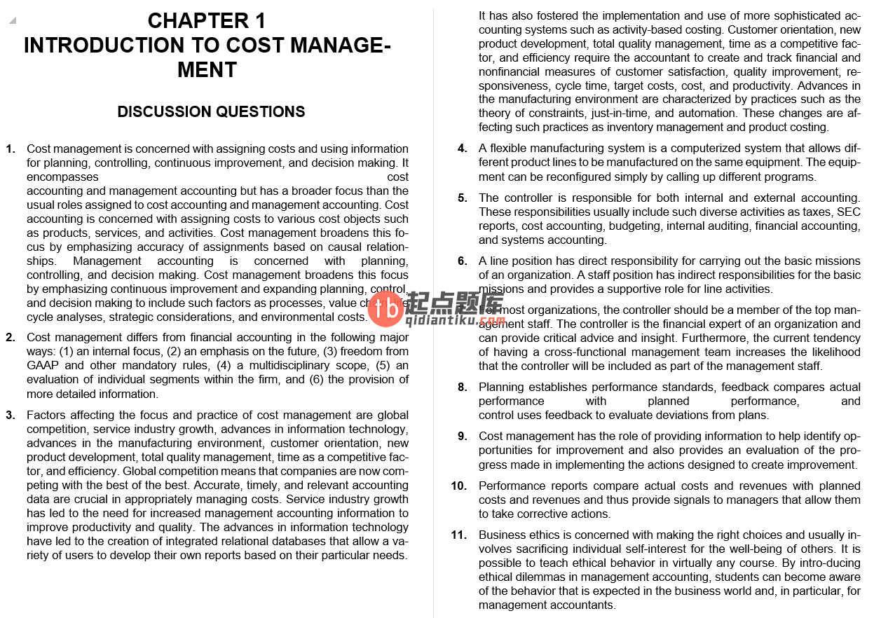 solution manual for Cornerstones of Cost Management 3rd edition的图片 4