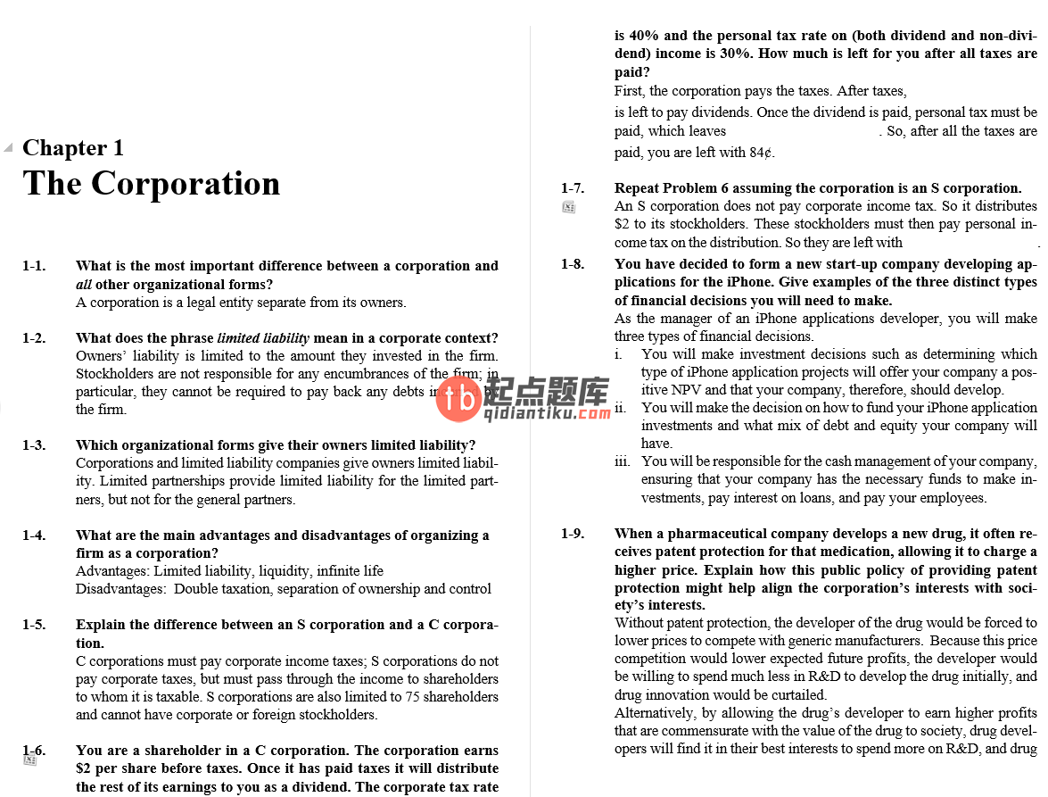 solution manual for Corporate Finance 4th Edition的图片 4